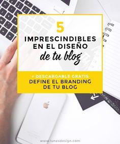 No hace falta saber de diseño para conseguir un blog visualmente impactante! Descubre los 5 puntos que van a dejar tu blog muy profesional. #branding #diseño #blog