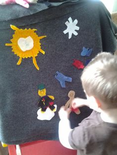 New felt weather chart.  They do the weather and then how it would feel outside and how to dress for the weather. They love it!