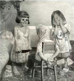 Love this creepy Girls