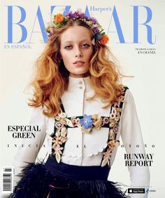 """Thairine Garcia in Chanel on the cover of Harper's Bazaar Mexico August 2015 """"Free Spirit,"""" photographer David Schulze Fashion Magazine Cover, Fashion Cover, Magazine Covers, Harper's Bazaar, Mac, Chanel, Brazilian Models, Classy And Fabulous, Covergirl"""