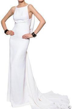 DSQUARED Stretch Viscose Cady Long Dress - Lyst