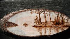 Lake Scenery Wood Burning by WhalenArtworks on Etsy, $35.00