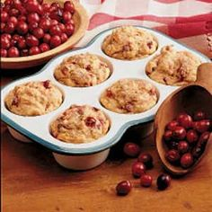 Cranberry Sweet Potato Muffins Recipe - delicious - great for breakfast too. I increased the sweet potato to 3/4 cup. Next time I would add more of the spices too.