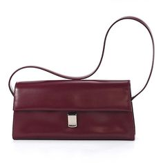 Pre-owned FURLA Shoulder Bag: Burgundy Women's Bags ($120) ❤ liked on Polyvore featuring bags, handbags, shoulder bags, burgundy, white purse, preowned handbags, burgundy purse, man shoulder bag and hand bags