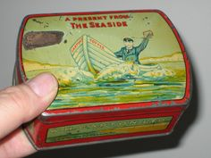 Vintage GARTON'S TOFFEE TIN Nottingham SEASIDE BOAT   eBay