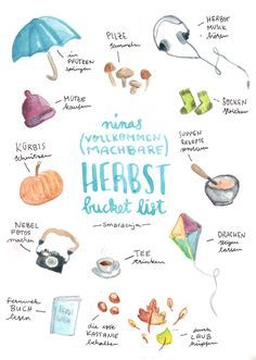 """Nina& (fully feasible) Autumn Bucket List-Ninas (vollkommen machbare) Herbst Bucket List The to-do-list with all the nice things and things to do in """"Indian Summer"""". Indian Summer, Herbst Bucket List, Chelsea's Messy Apron, Fun Fall Activities, Summer Bucket Lists, Autumn Bucket List, Bullet Journal Inspiration, Fall Crafts, Diy Crafts"""
