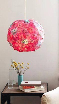 cocktail umbrella lamp craft DIY