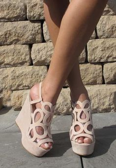 victorialeereyes's save of Light creme perspex sandal from Chockers Shoes on Wanelo