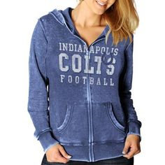 Indianapolis Colts Sport Princess II Burnout Heather Full Zip Hoodie