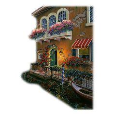 Blog de l'ile de kahlan - tubes fleurs ❤ liked on Polyvore featuring tubes, backgrounds, buildings, houses, art and fillers
