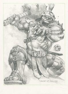 Planet Hulk commission Comic Art