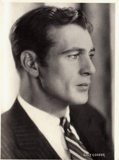 Gary Cooper-quite possibly the most perfect jawline ever! |Pinned from PinTo for iPad|