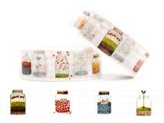 Masking Tape - Washi Masking Tape DIE WELT IM GLAS - ein Designerstück von GlueckMich bei DaWanda