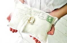 ring bearer's pillow for a vintage travel themed wedding....