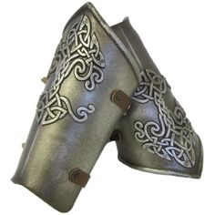 Larp Armour Celtic arm bracers ❤ liked on Polyvore featuring armor, accessories, gloves and medieval