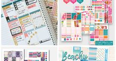 I bought a Happy planner this year and purchasing all the stickers and accessories can be expensive so here are 15 sites where you can find. Planner Diy, Home Planner, Planner Layout, Planner Organization, Planner Ideas, Printable Planner Stickers, Diy Stickers, Printables, Happy Planner Accessories