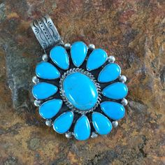 Don Lucas Sleeping Beauty Turquoise Sterling Silver Pendant