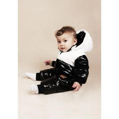 Puff Baby Overall Black/White, Mini Rodini
