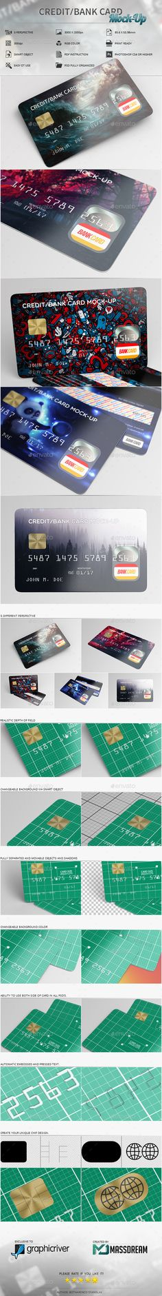 Buy Credit / Bank Card Mock-Up by MassDream on GraphicRiver. Features 5 PSD Views / Adobe or higher High resolution / / Editable via smart object Mock Up, King Card, Credit Card Design, Member Card, Mockup Photoshop, Shops, Plastic Card, Print Templates, Card Sizes