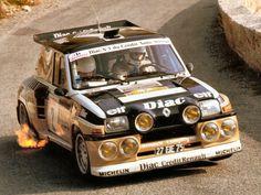 Renault 5 Maxi Turbo de 1985 pilotado por Francois Chatriot y Michel Perin (Copiloto) en el Rally de Antibes 1986. 350 CV.