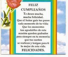 FELIZ CUMPLEAÑOS!! Happy Birthday Notes, Birthday Qoutes, Happy Birthday Wishes Cards, Birthday Wishes For Friend, Happy Birthday Images, Birthday Messages, Cute Words, Birthdays, Inspirational Quotes