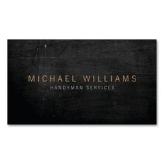 Rustic Modern Handyman, Builder Business Card. I love this design! It is available for customization or ready to buy as is. All you need is to add your business info to this template then place the order. It will ship within 24 hours. Just click the image to make your own!