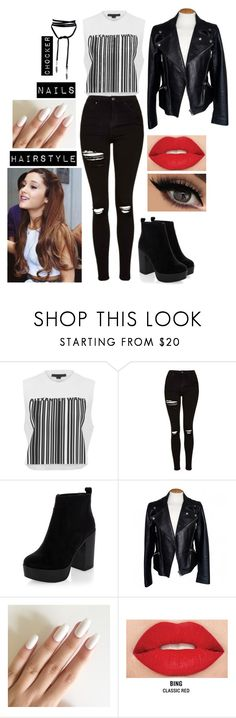 """Untitled #61"" by aceultimatepink ❤ liked on Polyvore featuring Alexander Wang, Topshop, New Look, Alexander McQueen and Smashbox"