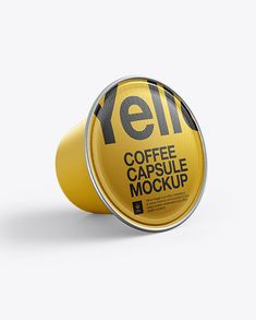 Coffee Capsule Mockup. Preview