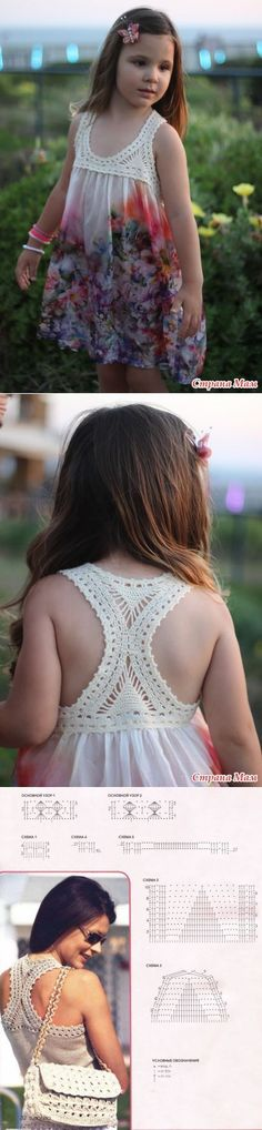 """stranamam.ru [ """"Combined dress Michal - Knitting for children - Country Mom"""", """"Crochet summer dress with fabric skirt"""" ] #<br/> # #Crochet #Summer #Dresses,<br/> # #Tissues,<br/> # #Babe,<br/> # #Fashion #Infant,<br/> # #Crochet,<br/> # #Flower,<br/> # #Sewing<br/>"""