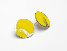 Heather McDemott, small buoy earings, stinless steel. ADORN - Quercus GalleryQuercus Gallery