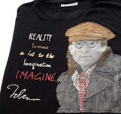 John Lennon T-shirt painting 3d by Quor – QuorArtisticTshirts