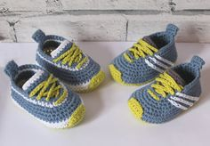 Crochet PATTERN baby boys sneakers Federation