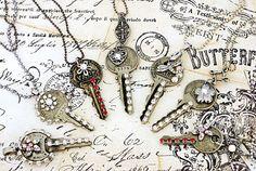 Items similar to Upcycled Key Necklace, Jeweled Key Pendant, Recycled Keys - Pick ONE - Found Object Necklace, Found Object Jewelry, Upcycled Jewelry on Etsy Key Jewelry, Jewelry Crafts, Jewelry Art, Jewelry Design, Jewelry Making, Jewlery, Upcycled Crafts, Old Key Crafts, Vintage Keys