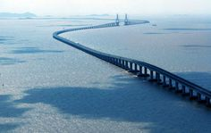 Hangzhou Bay Bridge in China with a total length of 35.673 km reach.