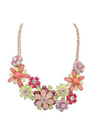 Sweet Design Bright Rhinestone Flower Necklace For Women