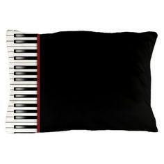 - Stylish Piano Keyboard Pillowcase -