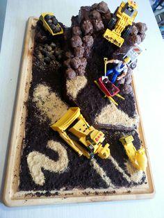 Gâteau de tracteur que j'ai fais pour les 2 ans à Éliott