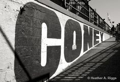 Coney Island Sign Black and White Travel Amusement by shyphotog, $15.00