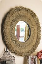 """Bali Hemp Rope Mirror ... 40""""- kind of expensive so I  would love to figure out how to make one."""