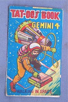 "Space age printing | ""Walking in Space"" tattoos | eBay"