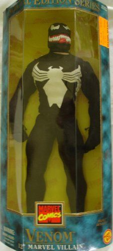 Spiderman Marvel Villain VENOM 12' Action Figure (1997 Toy Biz) >>> Check out the image by visiting the link.(It is Amazon affiliate link) #LoveForMarvel Spiderman Marvel, Marvel Villains, Venom, Action Figures
