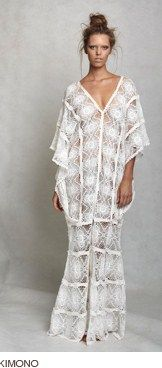 Lisa Brown Kimono lace kaftan - should be in my closet to take for a walk...today!
