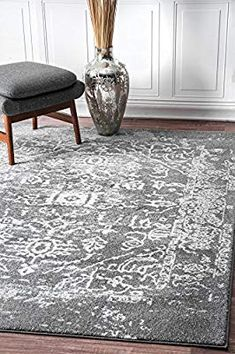 Rugs USA Charcoal Bosphorus Faded Tribal Cartouche Medallion rug - Traditional Runner x Contemporary Rugs, Contemporary Furniture, Plush Area Rugs, Goth Home, Area Rugs For Sale, Traditional Area Rugs, Machine Made Rugs, Buy Rugs, Rugs Usa