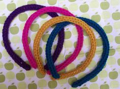 Easy I Cord Headband - using clover wonder knitter loom thingo