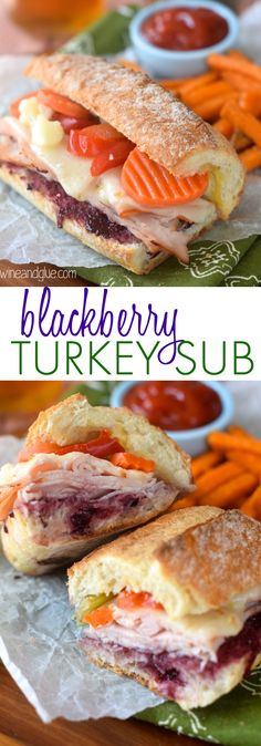 This Blackberry Turkey Sub is one of my favorite things to order and my favorite restaurant!  Simple but FULL of flavor!