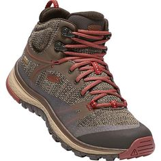 KEEN Terradora Waterproof Mid Hiking Boots - Women's Canteen/Marsala Source by hollymichonphoto zapatos de mujer Marsala, Lightweight Hiking Boots, Converse Chuck Taylor, Backpacking Boots, Hiking Gear, Hiking Food, Trekking Outfit, Trekking Shoes, Summer Hiking Outfit