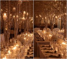 Winter Wonderlands Themed Wedding Reception