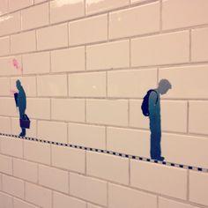 Subway public art mosaic, New York City. MY BLOG: http://thehitchcockiancockatoo.blogspot.com/