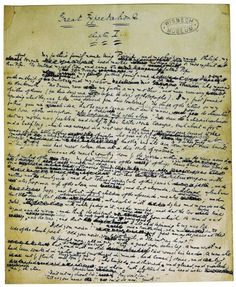 Charles Dickens' manuscript of Chapter 1 of Great Expectations . Cambridge University Press/The Townsend Collection . Wisbech & Fenland Museum