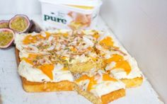 Mango and Passion Fruit Coconut Cake Recipe by Donal Skehan : Food Network UK